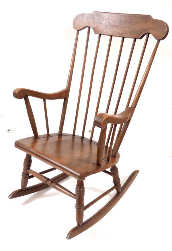 rockingchair ancien bois vintage