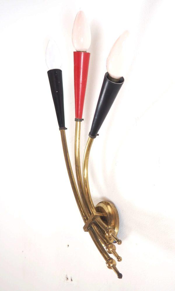 applique éventail flutes années 50 dorée lucinevintage