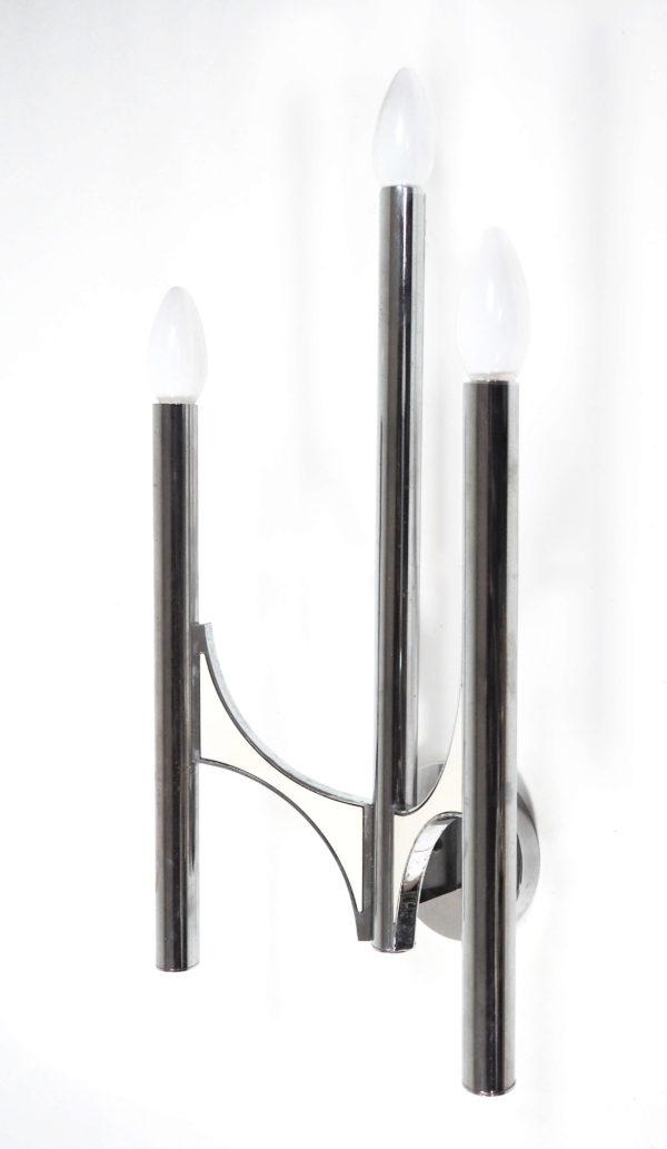 appliques chandelier triples chrome lucinevintage