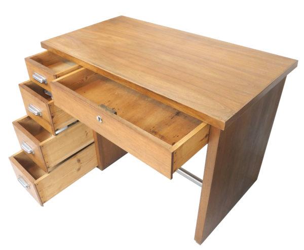 bureau bois et chrome lucinevintage