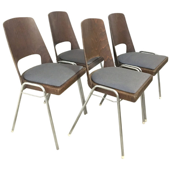 4 chaises Baumann tonneau lucinevintage