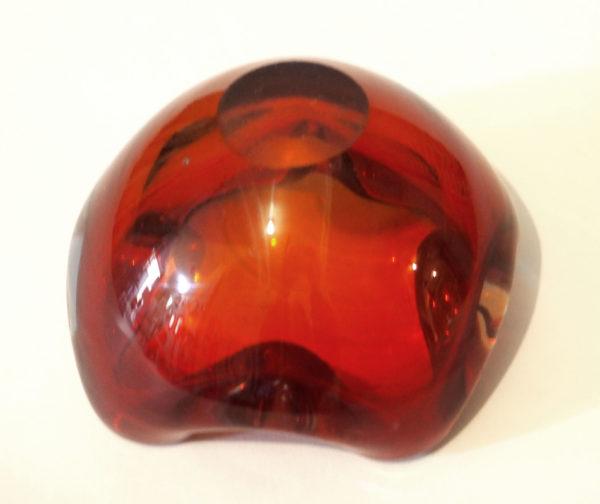 cendrier cristal rouge lucinevintage