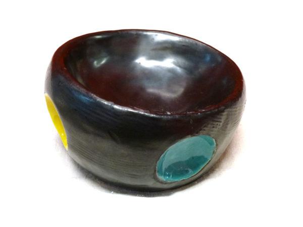 cendrier vide poche rondo pois couleur vintage