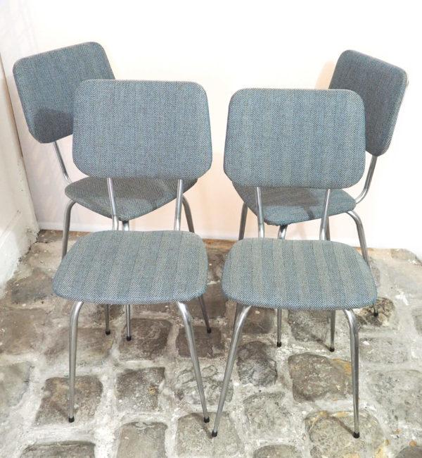 4 chaises retapisséées tissus lucinevintage