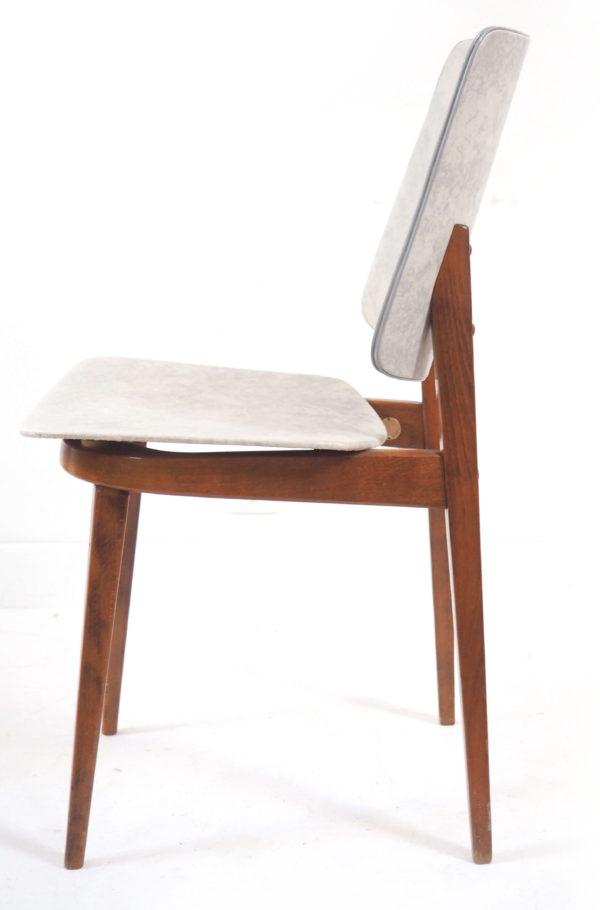 chaise bois vinyl Stella lucinevintage