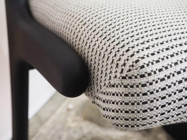 4 chaises traineau Baumann noir lucinevintage