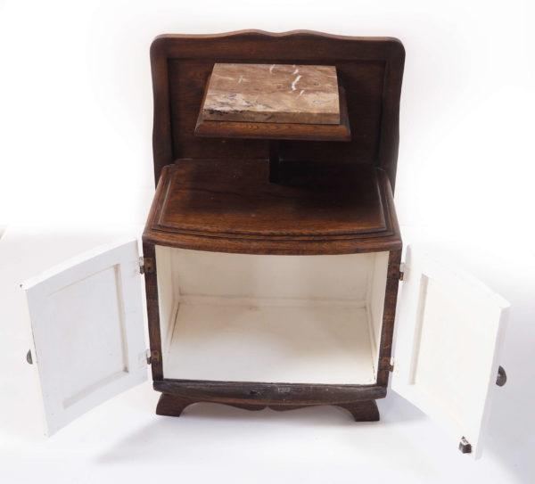 table de nuit art deco marbre bois lucinevintage