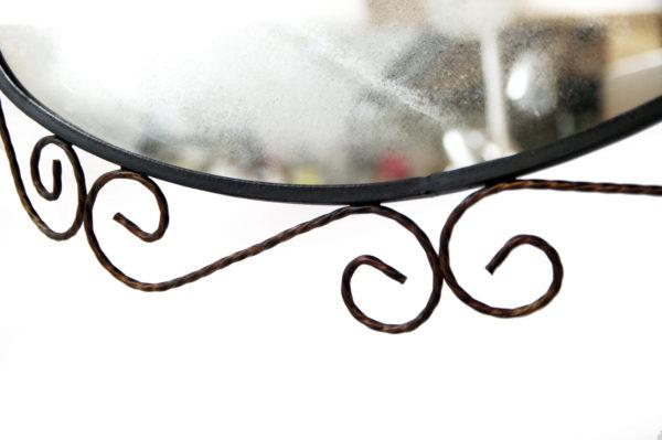 miroir fer forge ovale lucinevintage