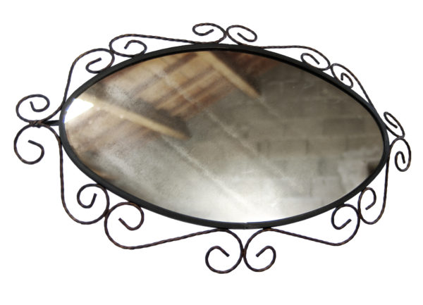 miroir fer forge ovale lucinevintage