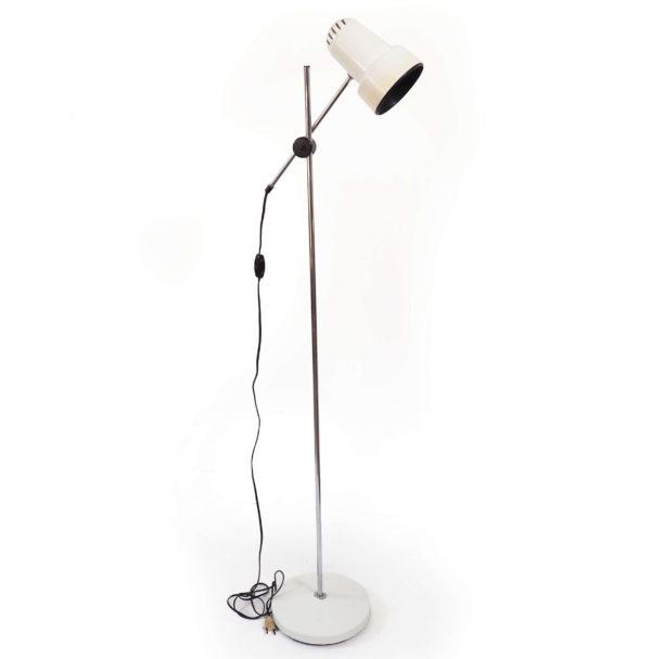 lampadaire spot vintage blanc années 70