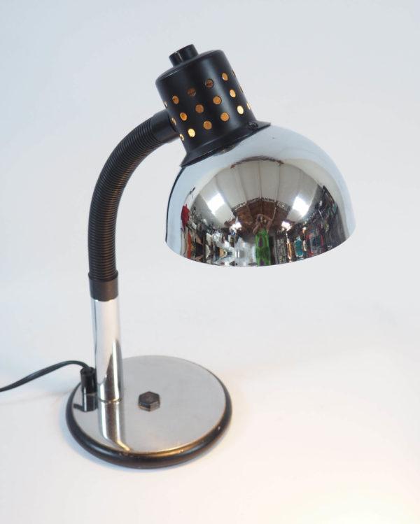 lampe chromée Aluminor flexible plastique vintage
