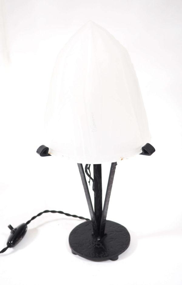 lampe art déco de vianne fer forgé retro