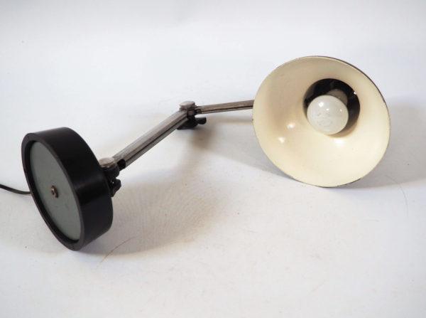 lampe rétro articulée grise 1930