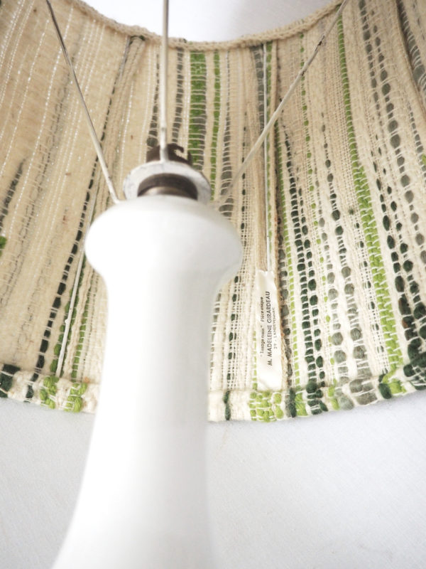 lampe céramique tissage vintage