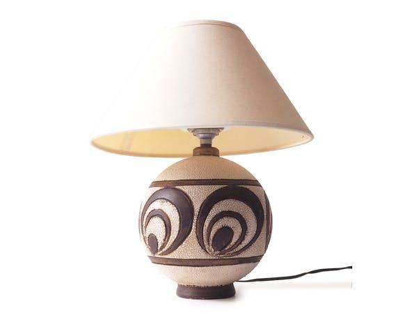 boule céramique lampe beige