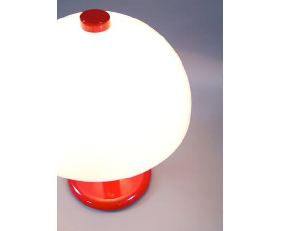 lampe Guzzini rouge champignon vintage