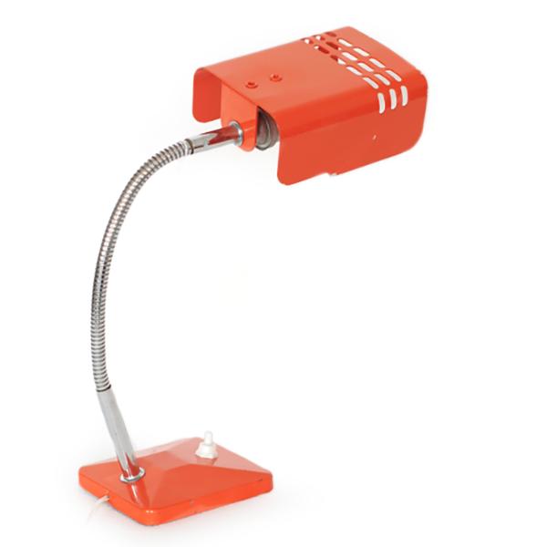 lampe années 70 tôle orange