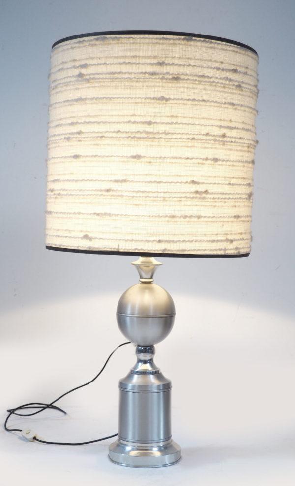 lampe aluminium et laine vintage