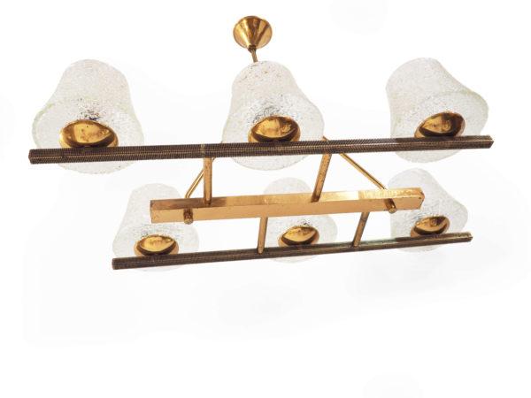 suspension bronze doré années 60