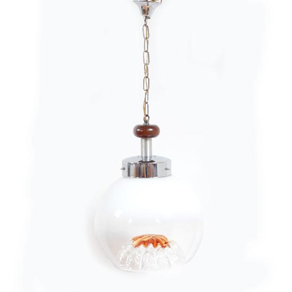 suspension boule verre soufflé lucinevintage