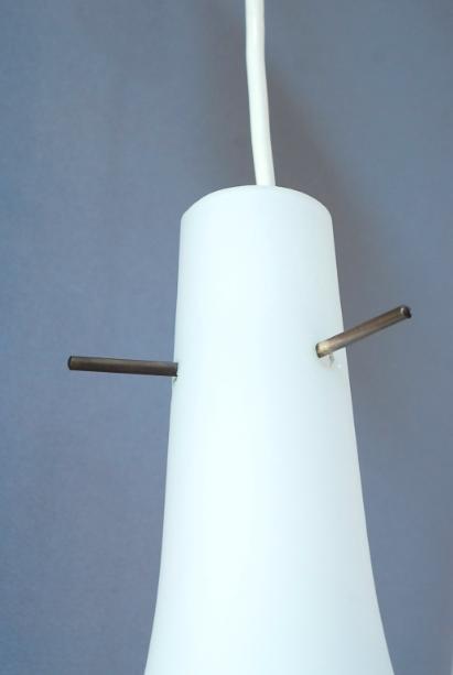 suspension opaline années 50 lucinevintage