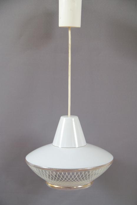 suspension croisillons opaline blanche