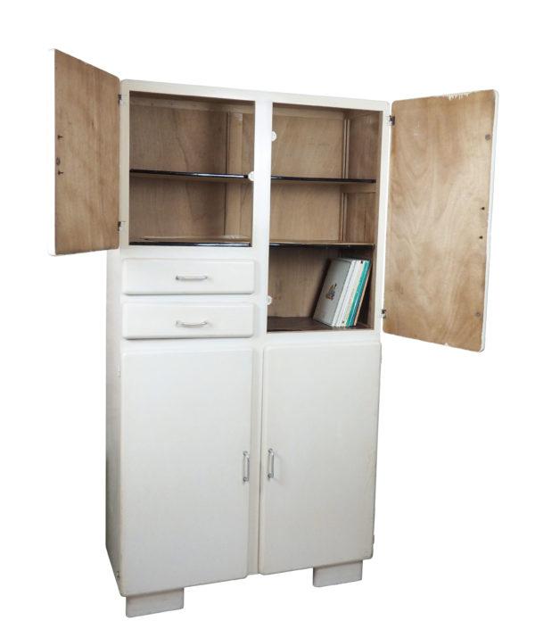 armoire rangement bois blanc lucinevintage