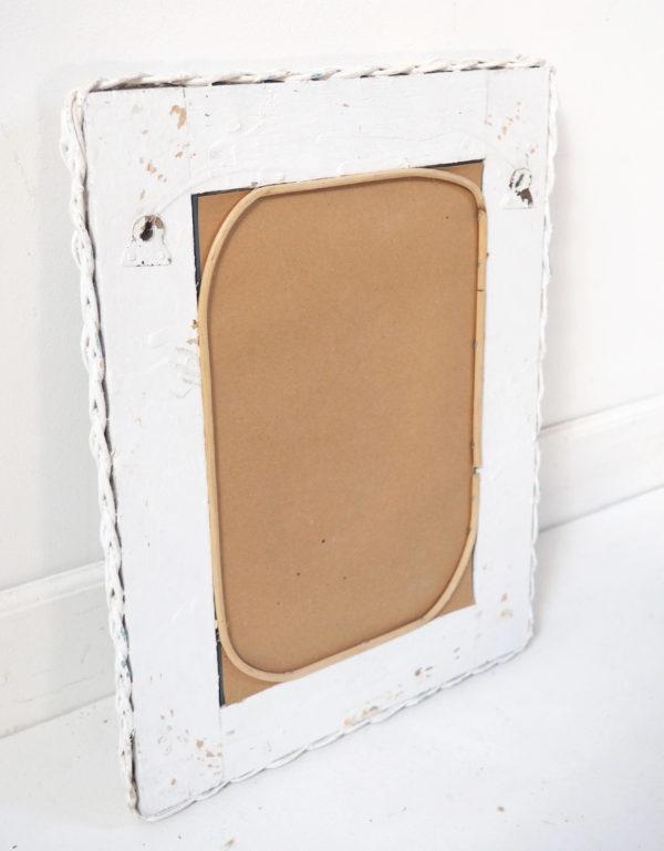 miroir cadre bombé rotin 80 lucinevintage