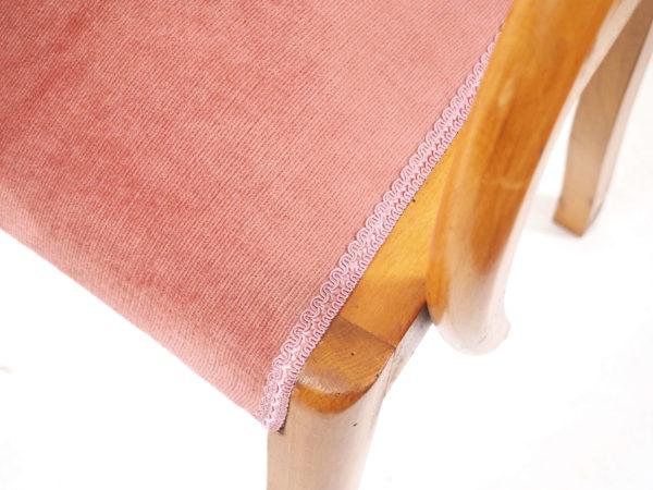 fauteuil bridge velours lucinevintage