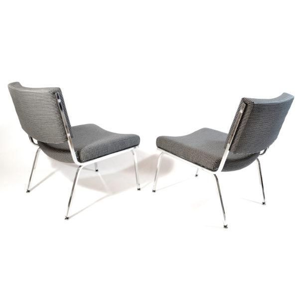 sièges Airborne noir blanc vintage