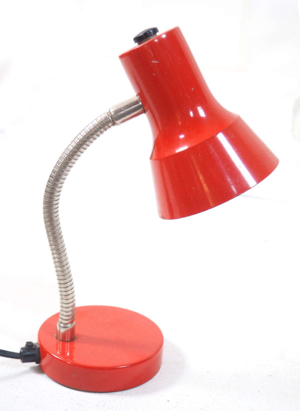 lampe bureau enfant rouge vintage