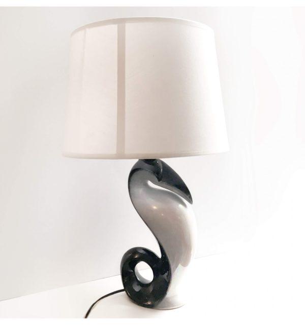 lampe céramique manchot vintage
