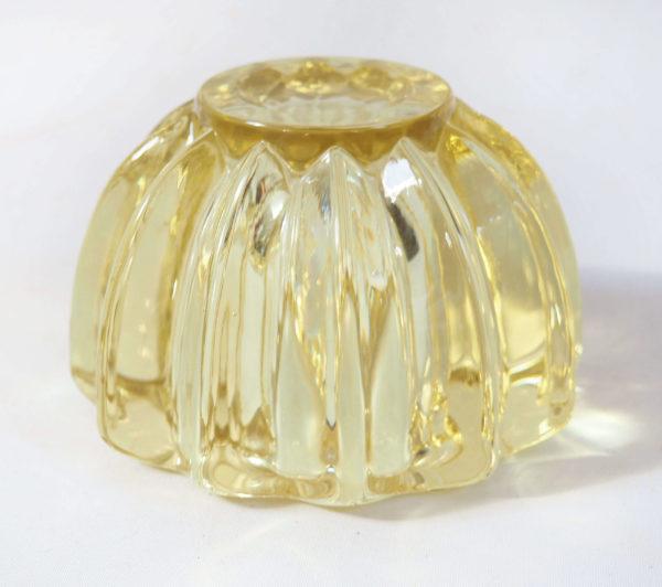vide poche cristal d aven jaune art deco lucinevintage