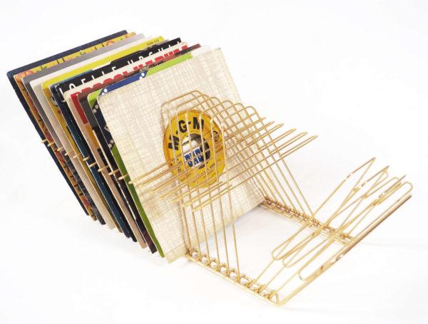 disk rack laiton basculant vintage