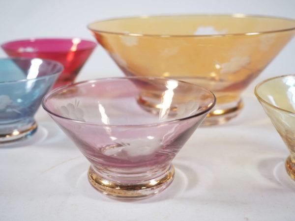 ensemble a dessert ciselé irisé lucinevintage