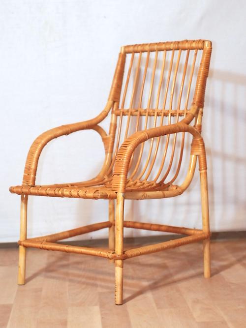 fauteuil rotin kids vintage