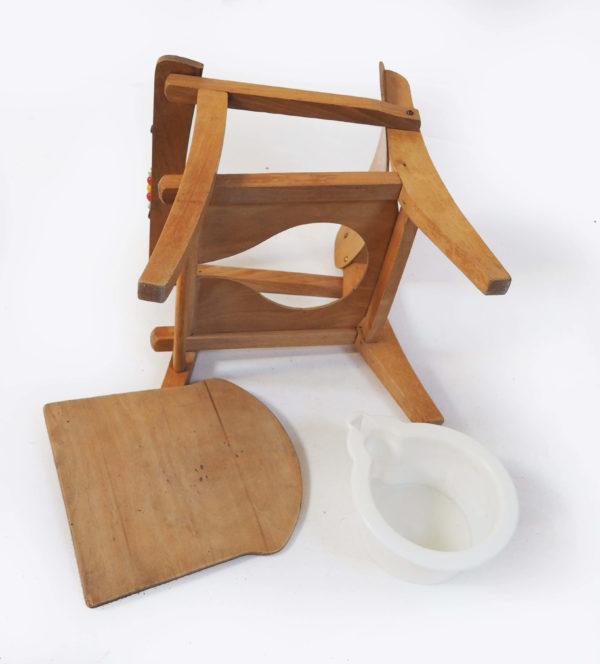 fauteuil pot canard bois vintage