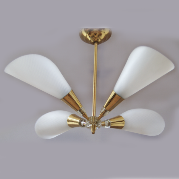 lustre cornets plexi années 60