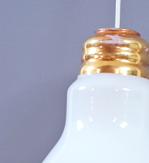 lustre ampoule années 80 lucinevintage
