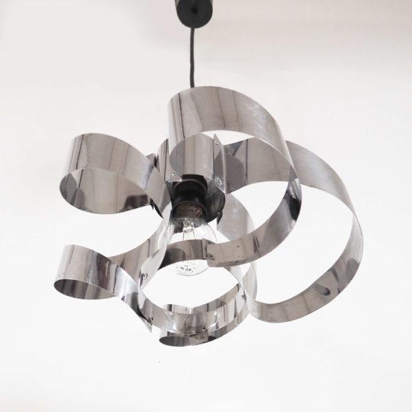 lustre spirale chrome lucinevintage