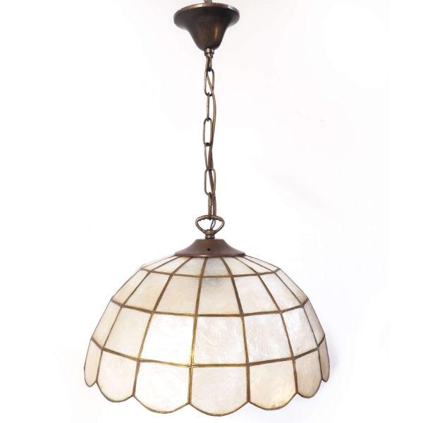 lustre vitrail nacre chaine lucinevintage