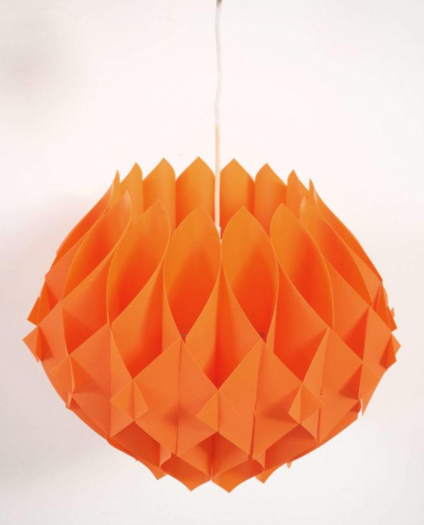 lustre années 70 design orange lucinevintage