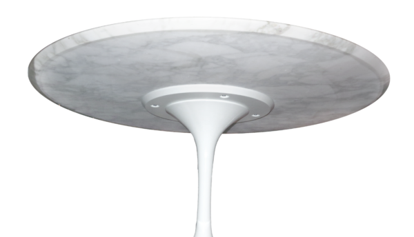 table marbre knoll pied tulipe vintage