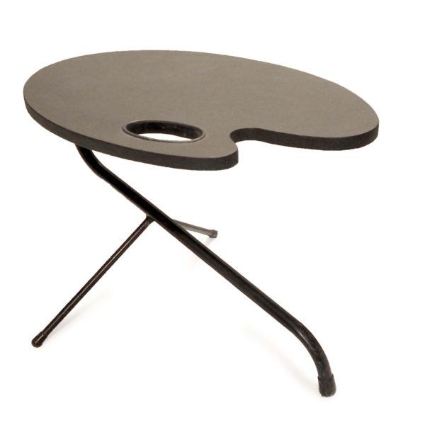 table tripode palette noire vintage