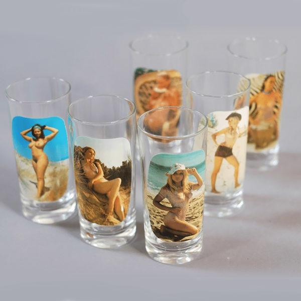 6 verres charme vintage années 70