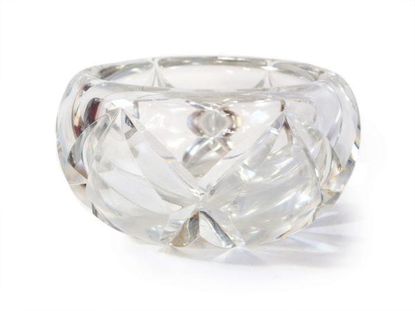 grand vide poche cristal ciselé années 30