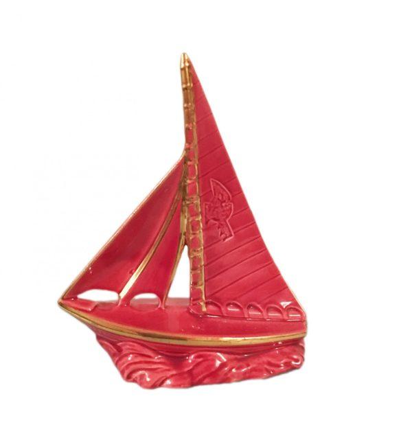 petit voilier céramique deco rose vintage