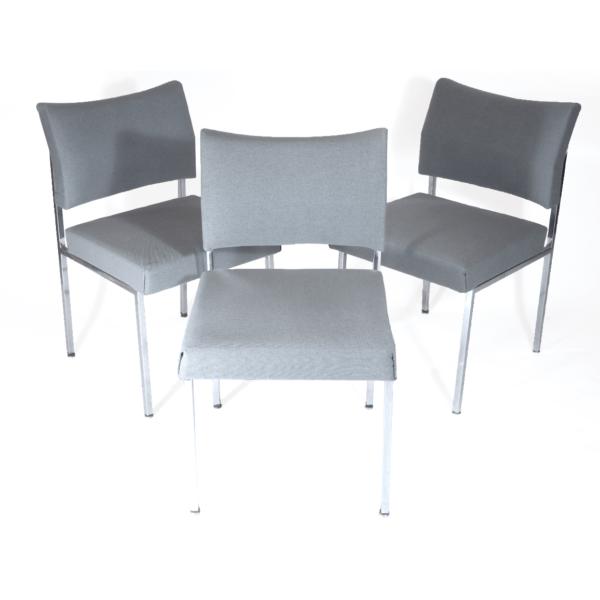 chaise Airborne retapissée chrome
