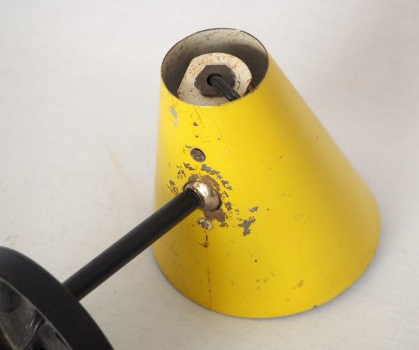 applique cornet jaune noir 1950 lucinevintage