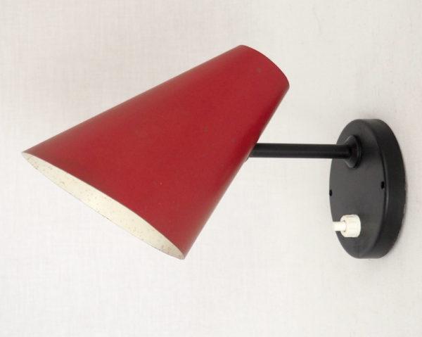 applique cornet rouge noir 1950 lucinevintage